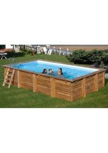 piscinas rectangulares de madera