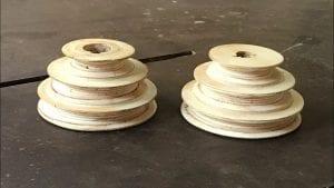 poleas de madera