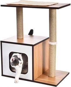 rascador para gatos de madera