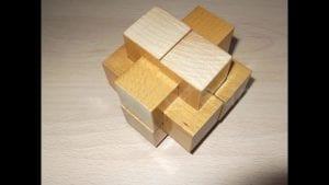 rompecabezas de madera de 6 piezas