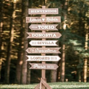 señales de madera