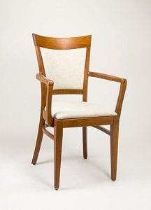 sillas con brazos de madera