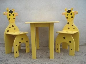 sillitas infantiles de madera