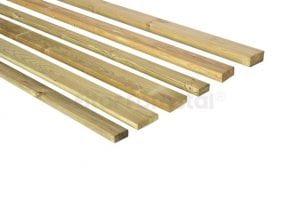 tablones de madera tratada para exteriores