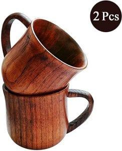 tazas de madera