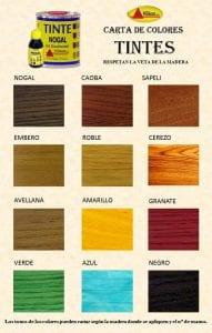 tinte de madera