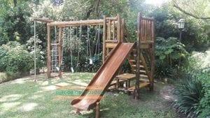 toboganes de madera