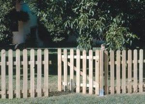 vallas de madera para jardin